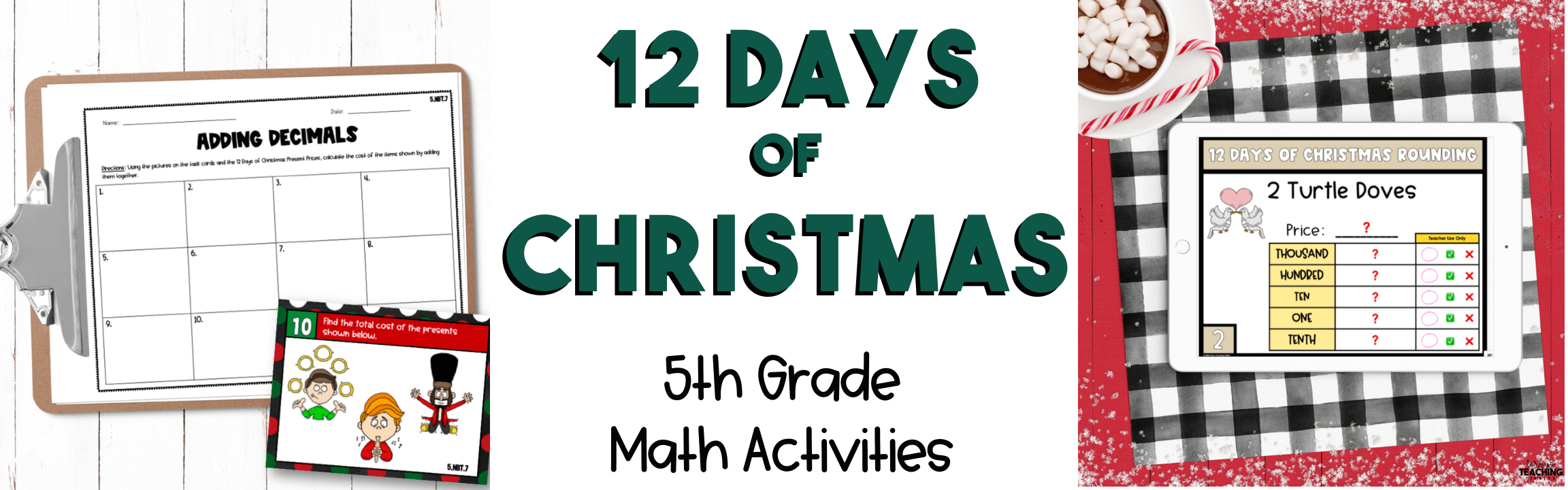 12 Days of Christmas Math Activities