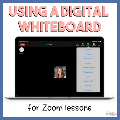 Using a Digital Whiteboard for Zoom Lessons