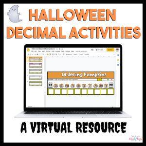 Digital Halloween Decimal Activities