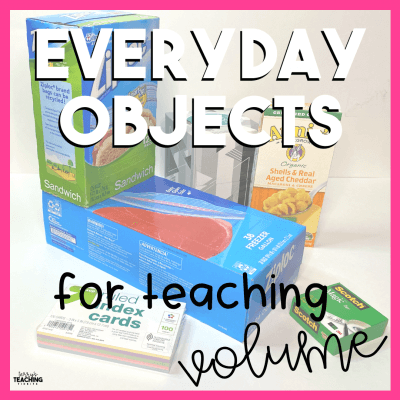 Everyday Objects for Teaching Volume