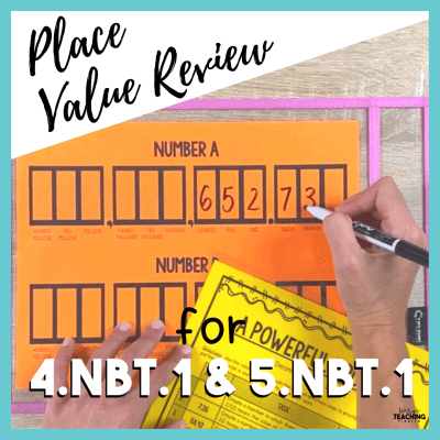 Place Value review for 4.NBT.1 and 5.NBT.1