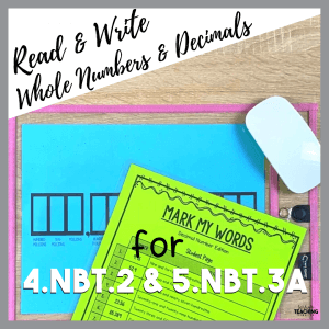 Read & Write Whole Numbers & Decimals Cover