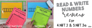 Reading and Writing Numbers Header
